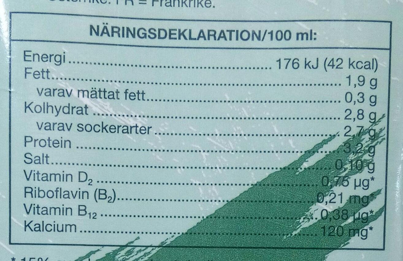 Soja-dryck - Voedingswaarden - sv