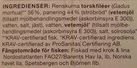 Coop Änglamark Panerad torsk - Ingrédients