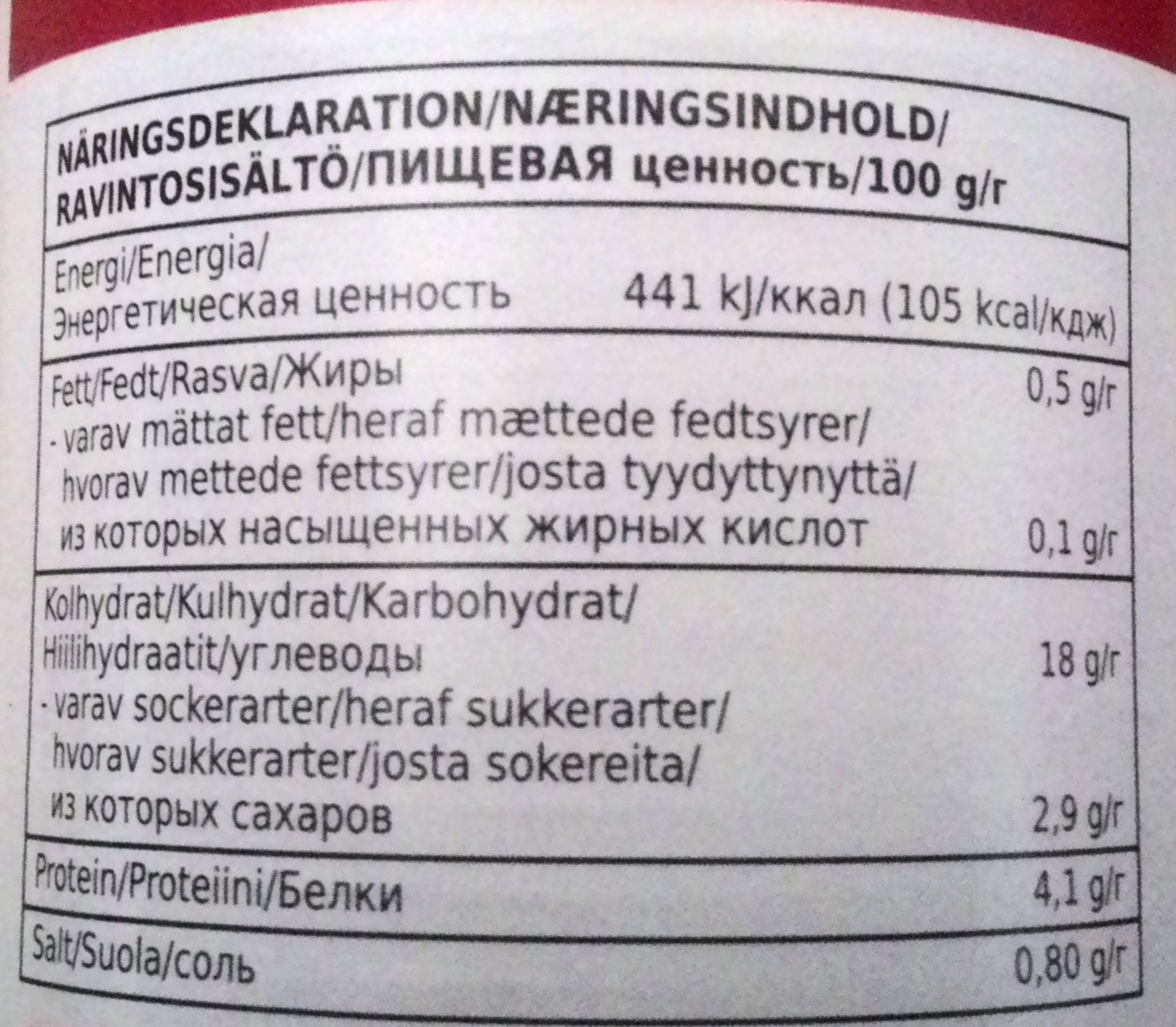 Coop X-tra Vita bönor i tomatsås - Nutrition facts