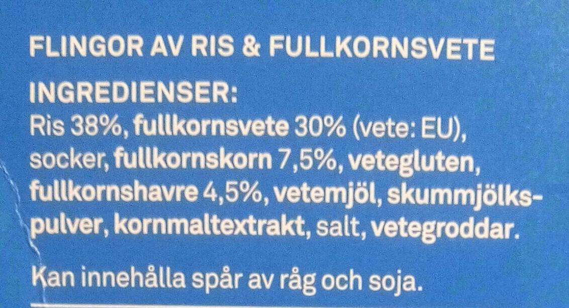 Special flingor - Ingrédients - sv