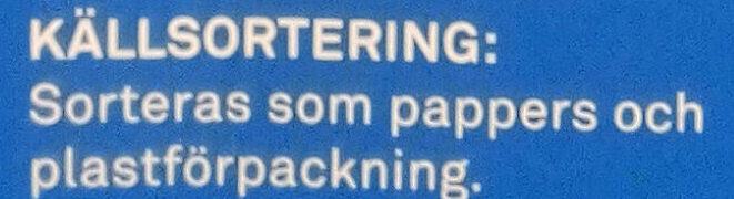 Special flingor - Instruction de recyclage et/ou informations d'emballage - sv