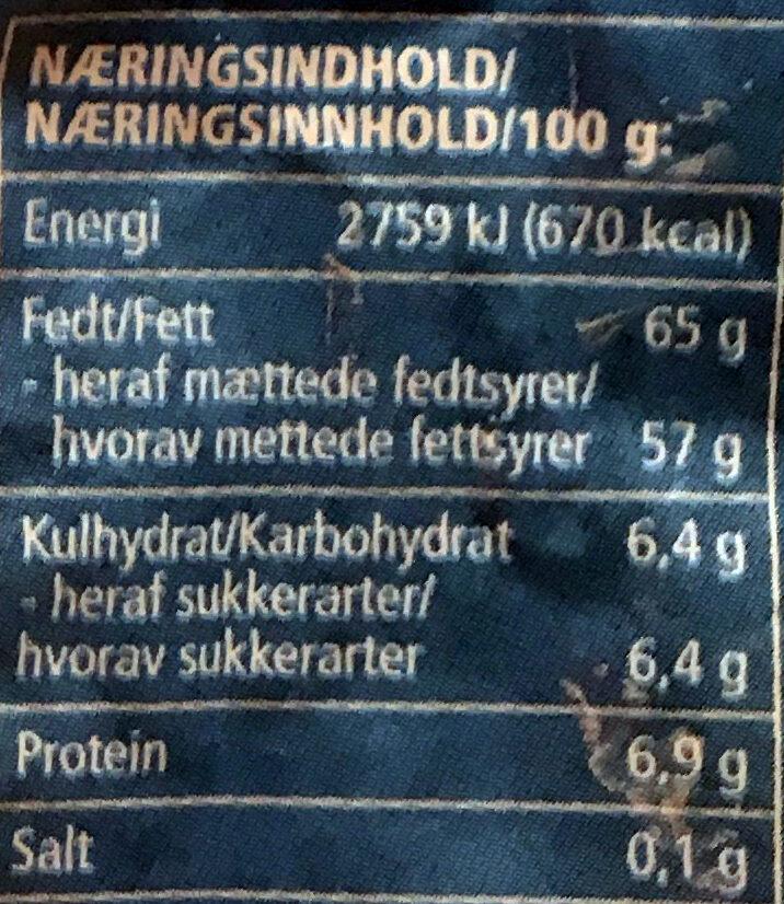 Kokosmel - Informations nutritionnelles - nb
