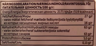 Coop X-tra Mjölkchoklad - Nutrition facts - sv