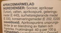 Aprikos marmelad - Ingredients