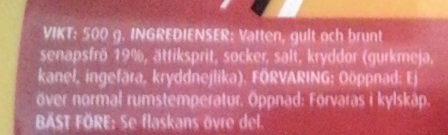 Coop Finmald senap - Ingrédients - sv
