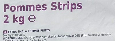 Coop X-tra Pommes strips - Ingrédients