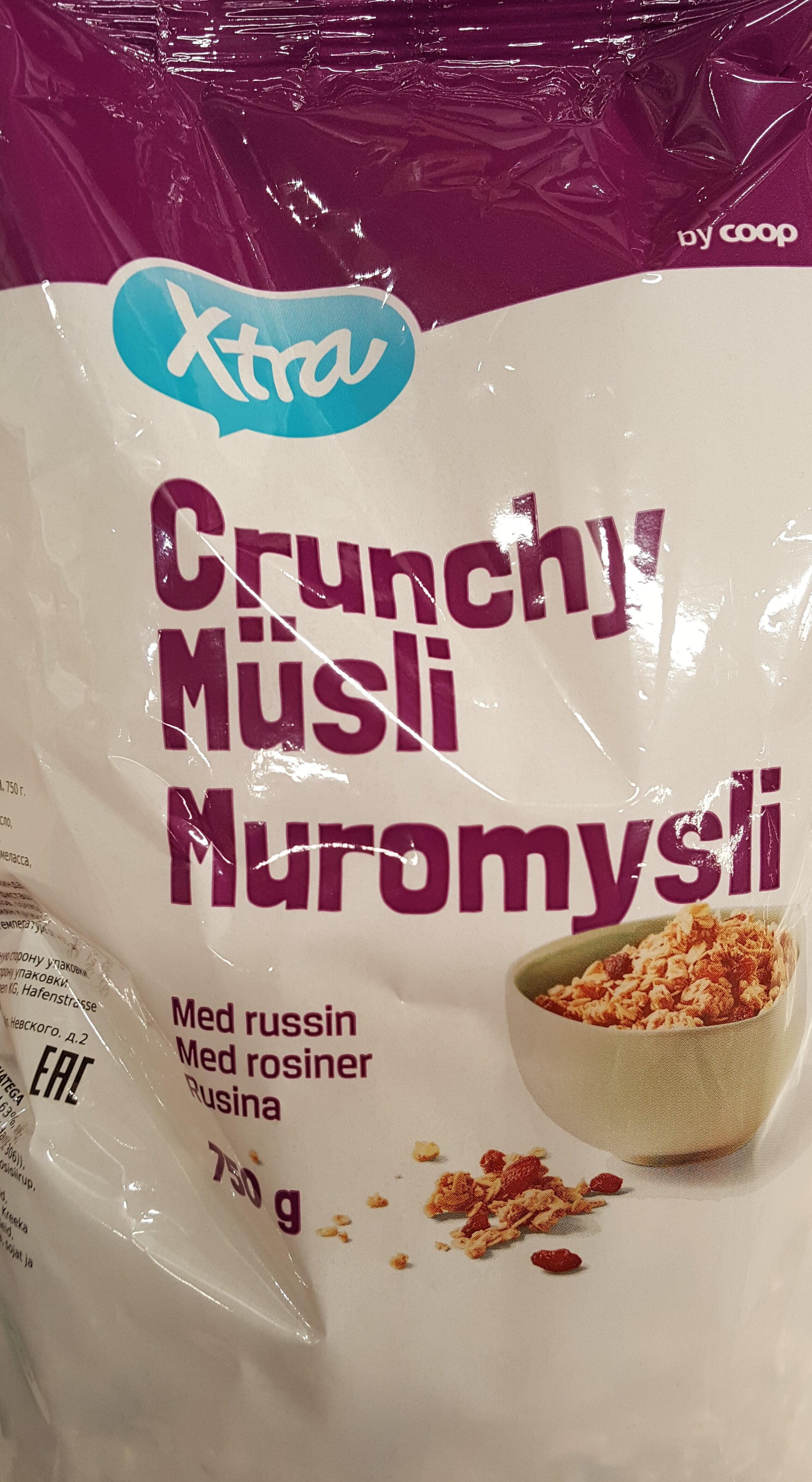Cruncy Müsli med russin - Product - sv
