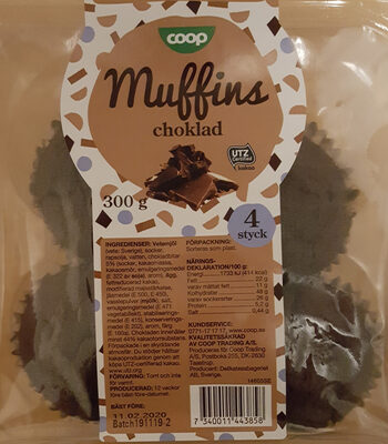 Muffins Choklad - Produit - sv