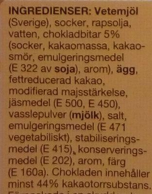 Muffins Choklad - Ingrédients - sv