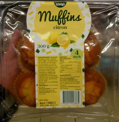 Coop Muffins citron - Produit