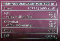 Berryette - Informations nutritionnelles - sv