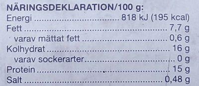 Coop Sprödbakade Fiskpinnar - Informations nutritionnelles - sv