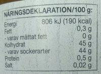 Hjortron sylt - Nutrition facts