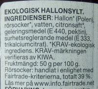 Hallon sylt - Ingredients
