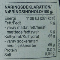 Jordgubbs sylt - Voedingswaarden - sv