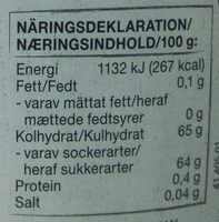 Hallon sylt - Voedingswaarden - sv