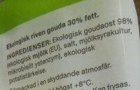 Gouda - Ingrediënten - sv