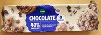 Chocolate Cookies - Mörk Choklad och mjölkchoklad - Product - sv
