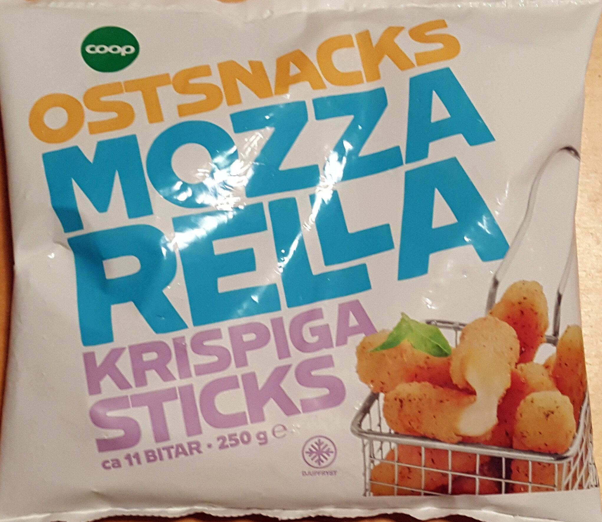 Ostsnacks Mozzarella Krispiga Snacks - Produit - sv