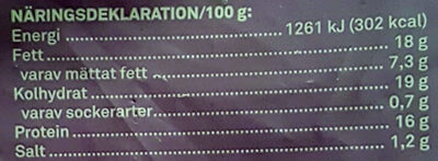 Ostsnacks Mozzarella Krispiga Snacks - Informations nutritionnelles - sv