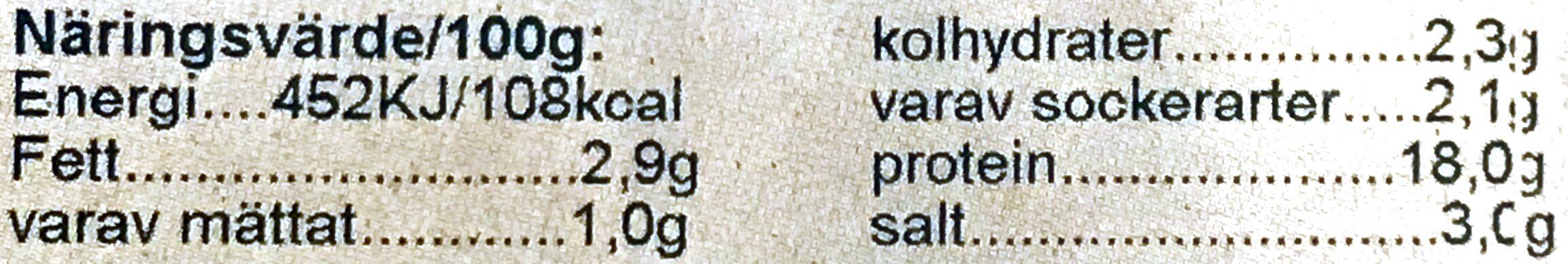 Svea Skinka - Voedingswaarden - sv
