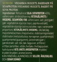 Hälsans Kök Vardagsfavoriter Veganska Nuggets - Ingrédients - sv