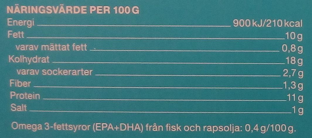 Garant Sprödbakad torskfilé - Informations nutritionnelles - sv