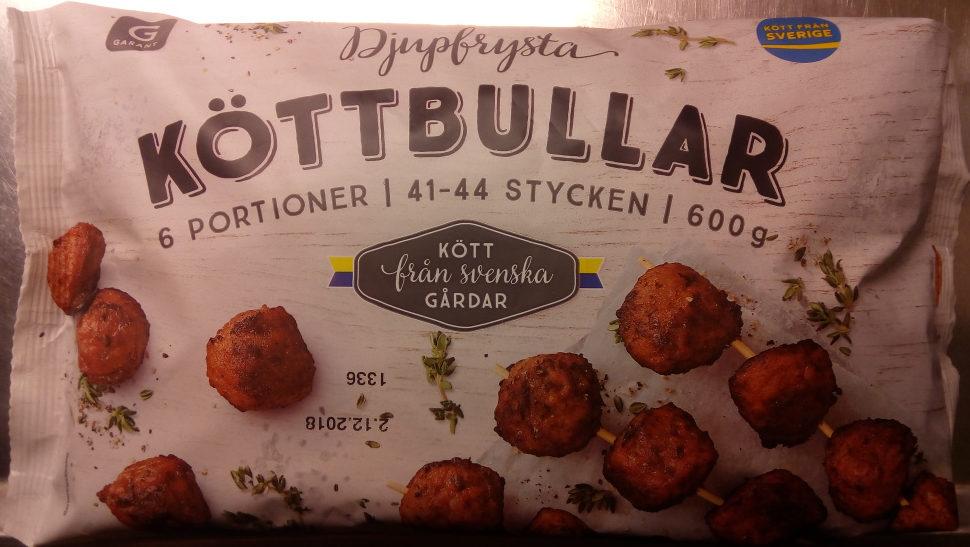 Garant Djupfrysta Köttbullar - Produit - sv