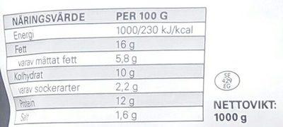 Eldorado Köttbullar - Informations nutritionnelles - sv