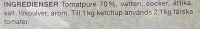 Garant Ketchup - Ingrédients - sv