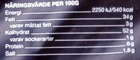 Garant Cheddar & garlic chips - Nutrition facts
