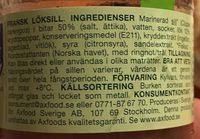 Fransk Loksill - Ingrediënten