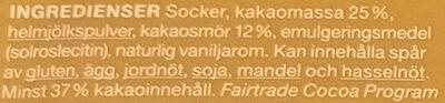 Garant Ljus bakchoklad 37 % kakao - Ingrédients - sv