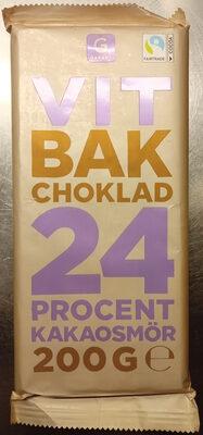 Garant Vit bakchoklad 24 % kakaosmör - Product - sv
