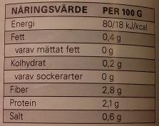 Eldorado Skivade Champinjoner - Informations nutritionnelles - sv