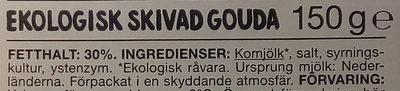 Garant Ekologisk skivad Gouda - Ingrediënten - sv
