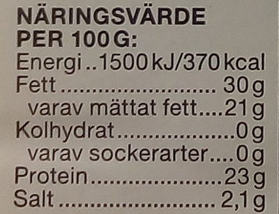 Garant Ekologisk skivad Gouda - Voedingswaarden - sv