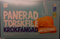 Garant Panerad torskfilé krokfångad - Produit - sv