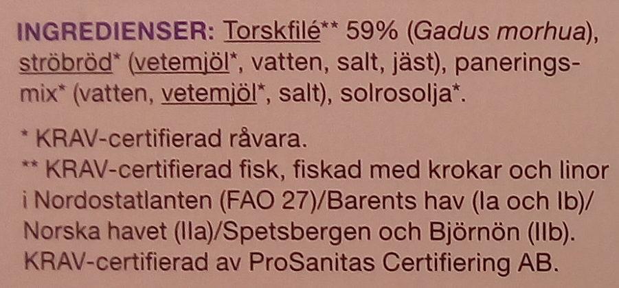 Garant Panerad torskfilé krokfångad - Ingrédients - sv
