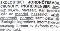 Ekologiskt Jordnötssmör Crunchy - Ingredients - sv
