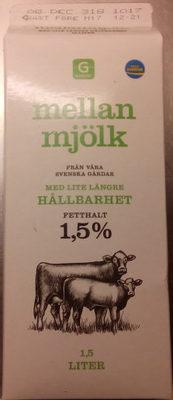 Mellanmjölk med lite längre hållbarhet - Product - sv