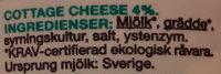 Garant Ekologisk cottage cheese - Ingrédients - sv