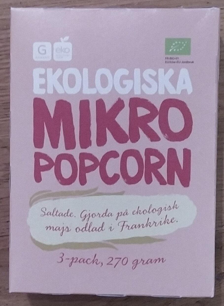 Ekologiska micropopcorn - Product - sv