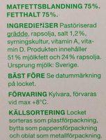 Bredbart normalsaltat smör & raps - Ingredients - en