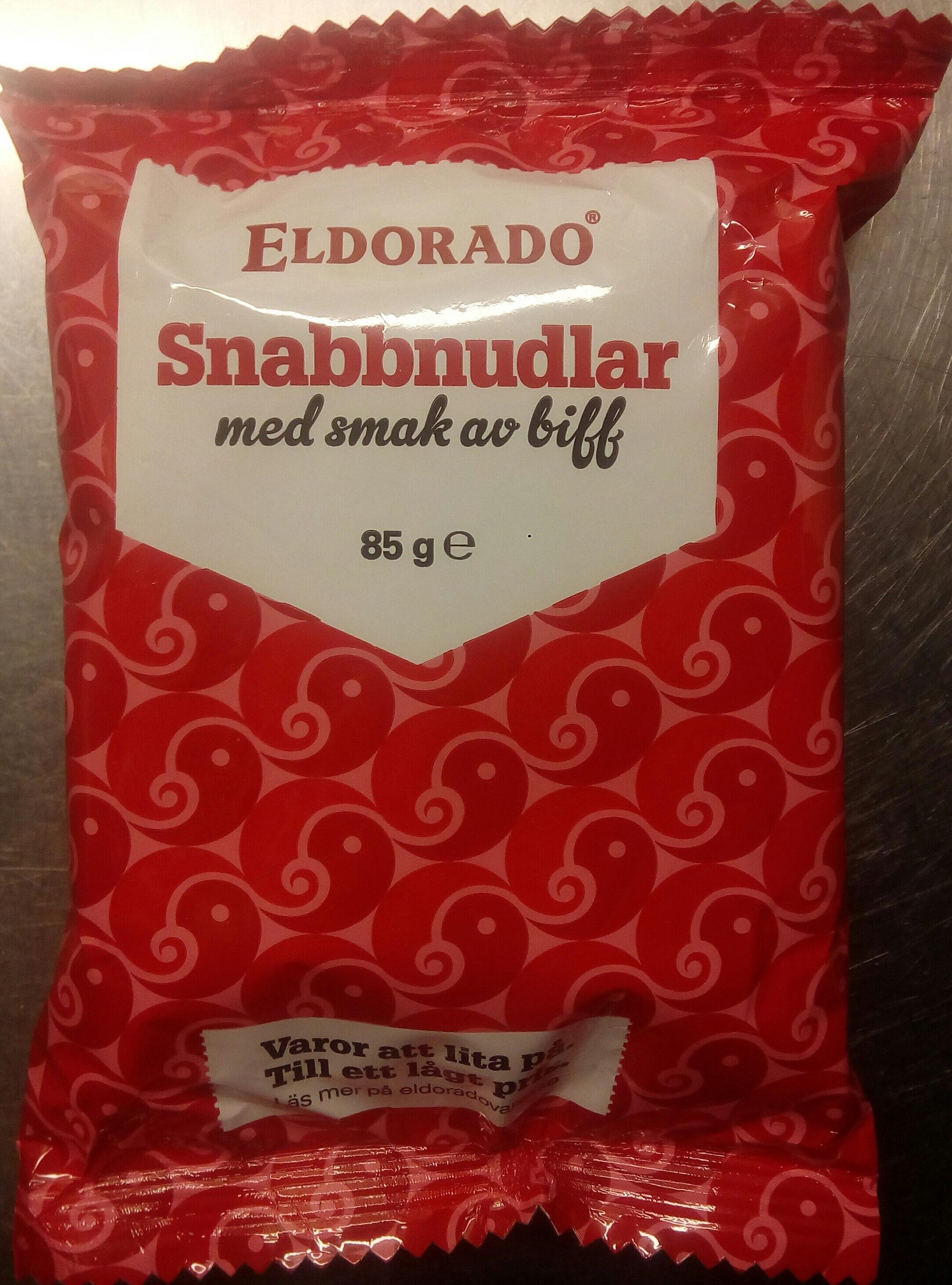 Eldorado Snabbnudlar med smak av biff - Produit - sv