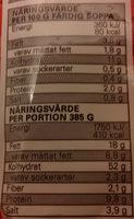 Eldorado Snabbnudlar med smak av biff - Nutrition facts