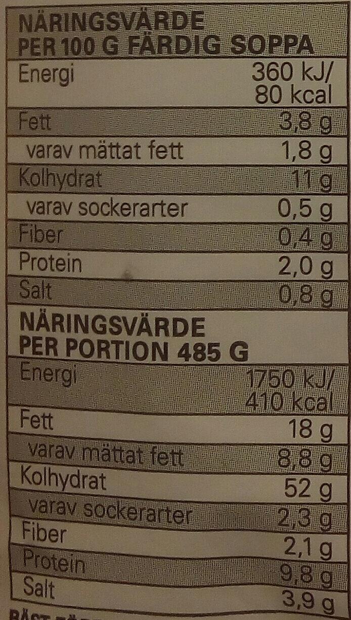 Eldorado Snabbnudlar med smak av biff - Informations nutritionnelles - sv