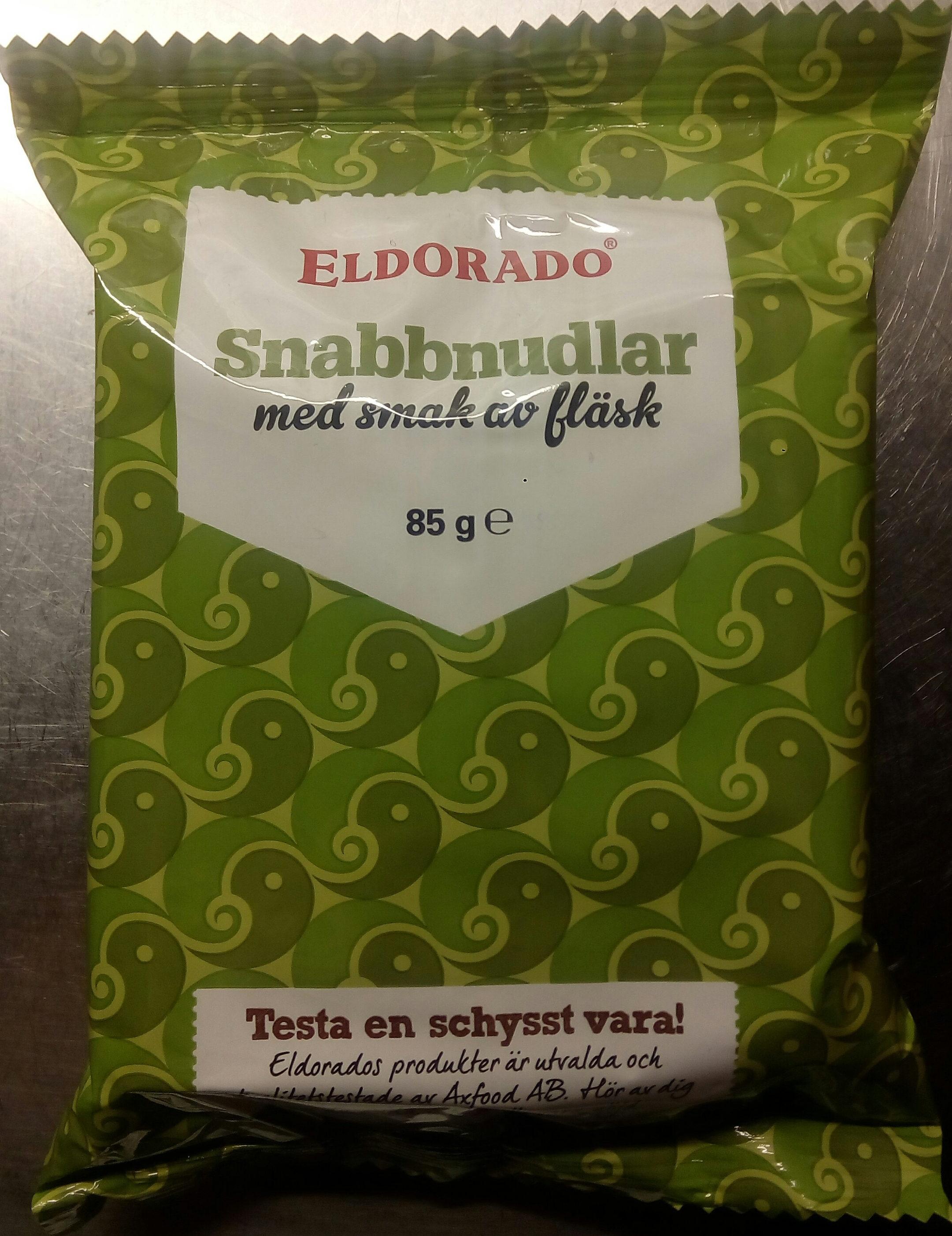 Eldorado Snabbnudlar med smak av fläsk - Product - sv