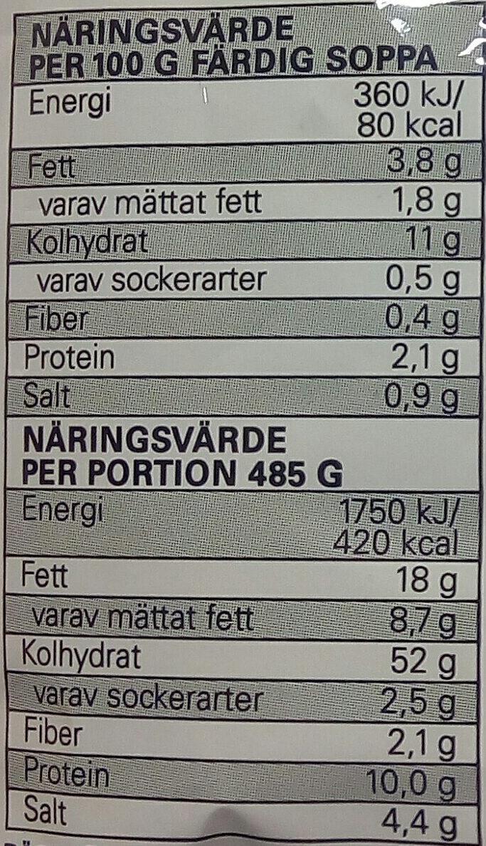 Eldorado Snabbnudlar med smak av räkor - Informations nutritionnelles - sv
