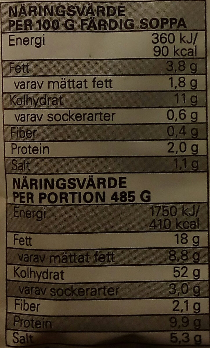 Eldorado Snabbnudlar med smak av kyckling - Nutrition facts - sv